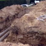 Digging the Foundation in Feeding Hills